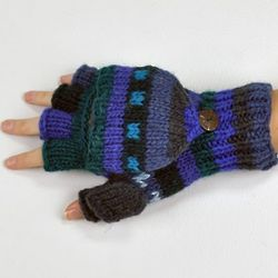 Convertible Mittens in Purple