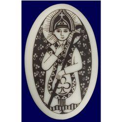St. Patrick Porcelain Pendant