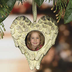 Heart Shaped Angel Wings Photo Frame Ornaments