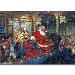 North Pole Garage Jigsaw Puzzle