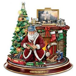 Thomas Kinkade Final Touches of Holiday Cheer Centerpiece