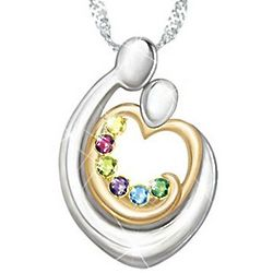 Personalized Family Pendant with Birthstones