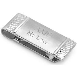 Engraved Spring Loaded Money Clip
