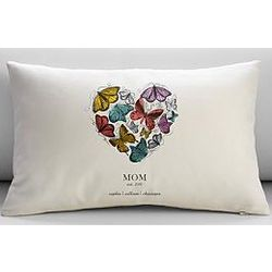 Personalized Butterfly Heart Pillow Cover