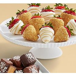 Dozen Hand-Dipped Champagne Strawberries with Sea Salt Caramels