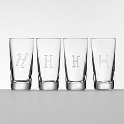 Script Initial Shot Glass Set
