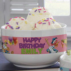 Disney Personalized Happy Birthday Bowl