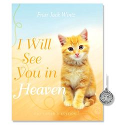 Cat Lover's I Will See You in Heaven Book with Pet Medal