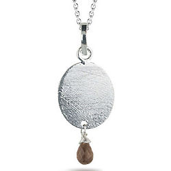 Elegant Smokey Quartz Pendant in Sterling Silver