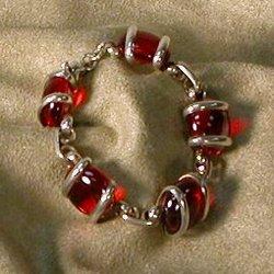 Red Murano Crystal Bracelet