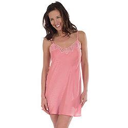 Pink Bowtie Silk Lace Chemise