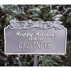 Personalized Happy Holidays Plaque with Sleigh