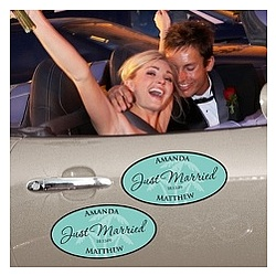 Personalized Wedding Window Cling Set