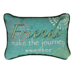 Friends Make The Journey Sweeter Word Pillow