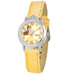 Personalized Disney Girl's Belle Crown Watch