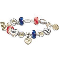 New York Giants Super Bowl XLVI Charm Bracelet