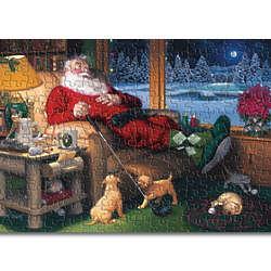 Santa Golfer Jigsaw Puzzle