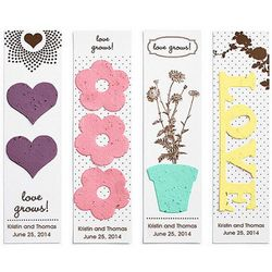 Bookmark Seed Paper Wedding Favors