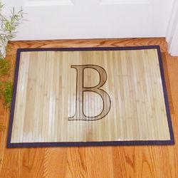 Monogrammed Bamboo Doormat