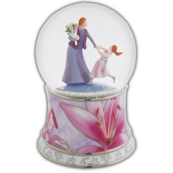 Mom and Dancing Daughter Water Globe
