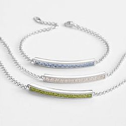 Channel Set Birthstone Bracelet