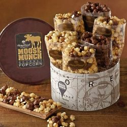 Moose Munch Popcorn Gift Tin Deluxe