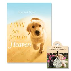 Dog Lover's I Will See You in Heaven Book with Pet Medal