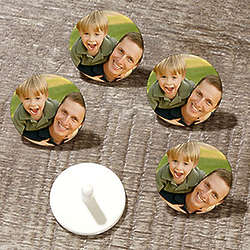 12 Custom Photo Personalized Golf Ball Markers