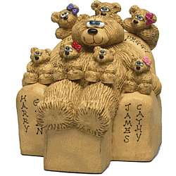 Personalized Beary Best Dad with Kids in Chair