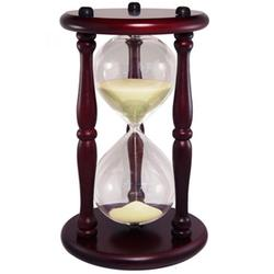 30 Minute Hourglass Sand Timer in Cherry Finish
