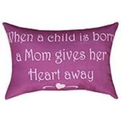 Mother and Child Word Pillow