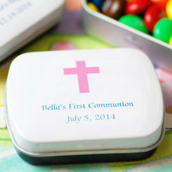 Personalized Mint Candy Tin Party Favors
