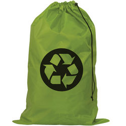 Green Recycle Symbol Laundry Bag