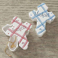 Personalized Prayerful Blessings Cross Trinket Box