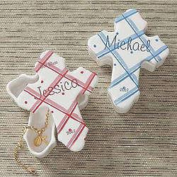 Personalized Prayerful Blessings Cross Trinket Box