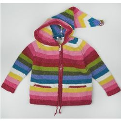 Rainbow Zip-up Gnome Sweater