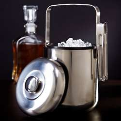 Cool as Ice Stainless Steel Ice Bucket with Tongs