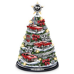 Ford Mustang Holiday Tabletop Tree