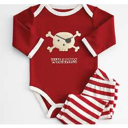 Personalized Long Sleeve Bodysuit with Patch