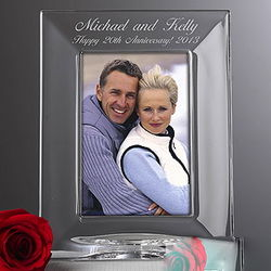 Personalized Wedding Anniversary Crystal Picture Frame