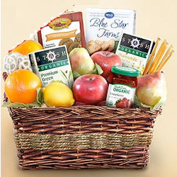 Organic Tea and Fruit Basket