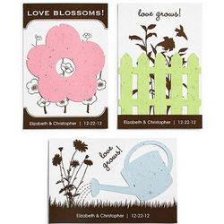 Personalized Planting Seed Wedding Postcards