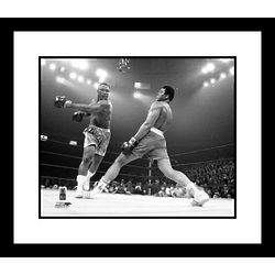 Muhammad Ali vs Frazier Framed Black and White Photo