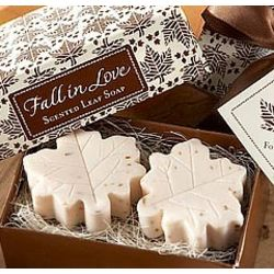 Fall in Love Scented Leaf Shaped Soap Favors