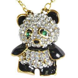 Crystal Rhinestone Panda Bear Pendant