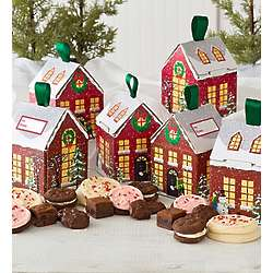 Festive House Boxes Cookies and Sweets Set