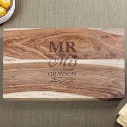 Personalized Sheesham Wedding Day Cutting Board