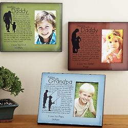 Personalized Daddy or Grandpa Memories Photo Frame