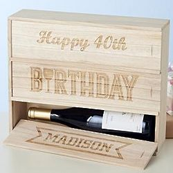 Personalized Birthday Triple Wine Box