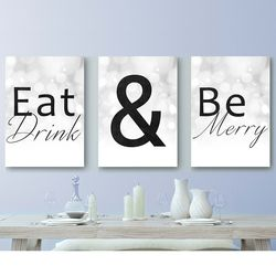 Eat Drink & Be Merry Canvas Art